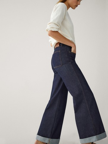HIGH-RISE PALAZZO JEANS