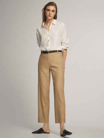 PANTALÓN LINO STRAIGHT FIT