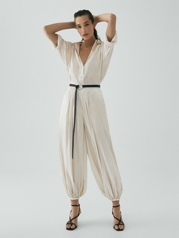 LIMITED EDITION HAREM TROUSERS WITH SHIMMER FINISH