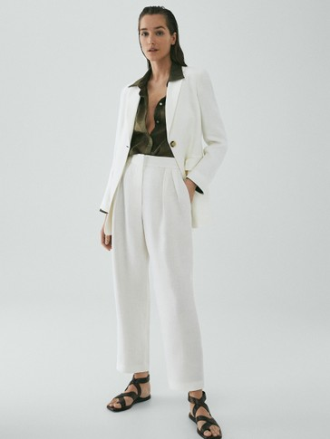 Limited Edition straight fir linen trousers