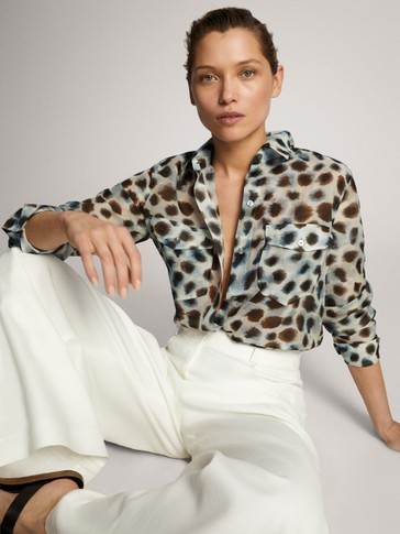 PRINTED COTTON SILK SHIRT