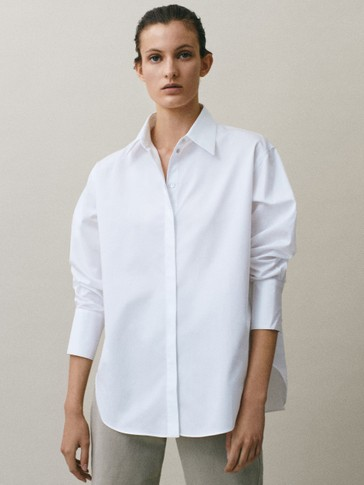 COTTON SATIN SHIRT