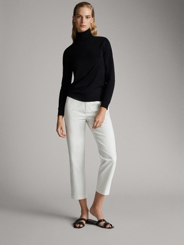 PLAIN SILK WOOL SWEATER