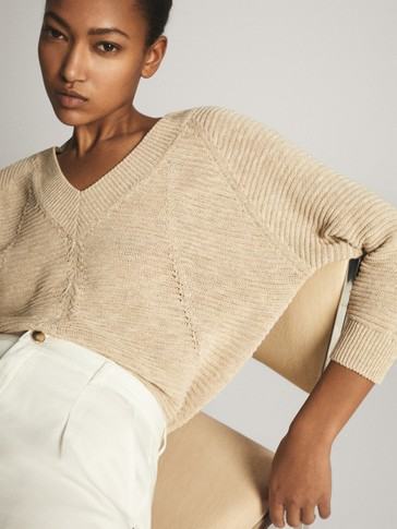 LAYERED V-NECK SWEATER