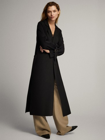 TRENCH CARDIGAN WITH BELT