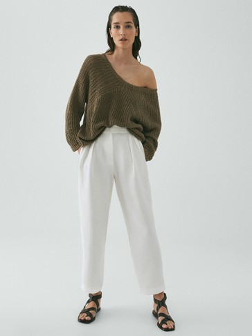 Limited edition 100% linen sweater