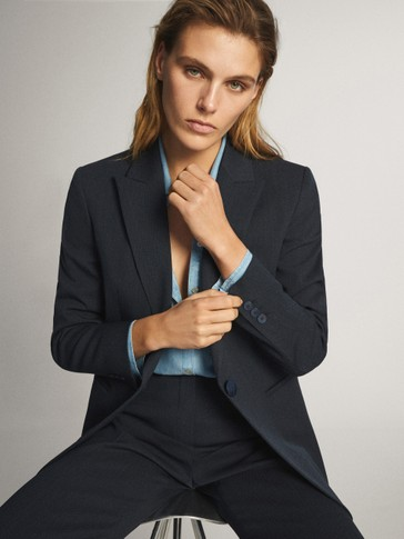 DENIM SUIT BLAZER