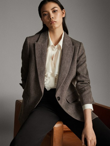 LINEN AND WOOL BLAZER