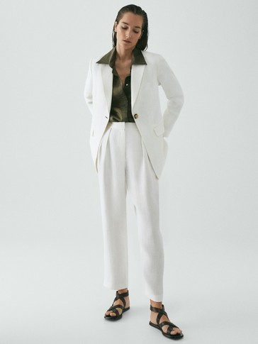 Limited Edition linen blazer with button