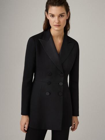 Black tuxedo collar blazer
