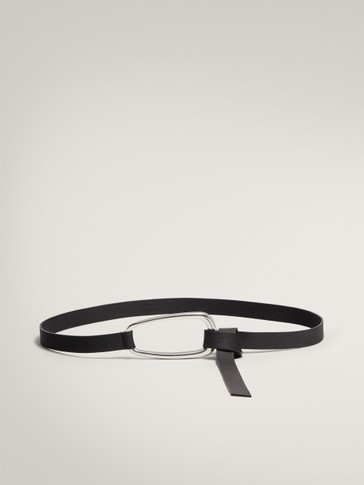 LIMITED EDITION KNOTTED BLACK BELT WITH LARGE BUCKLE
