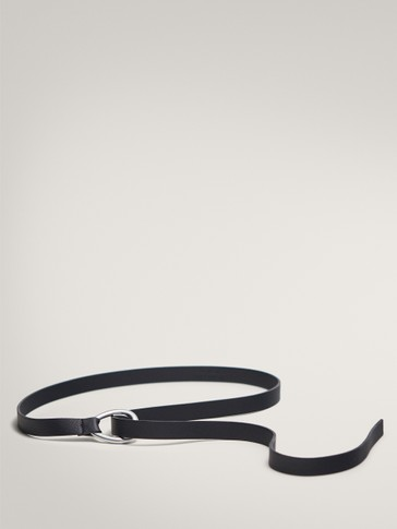 LIMITED EDITION KNOTTED BLACK BELT WITH SMALL BUCKLE