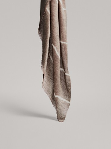 MODAL AND WOOL TIE-DYE SCARF