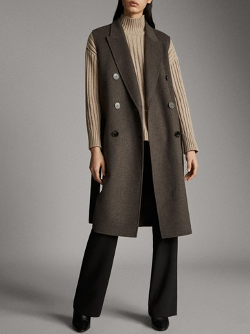HAND-TAILORED WOOL BUTTONED WAISTCOAT