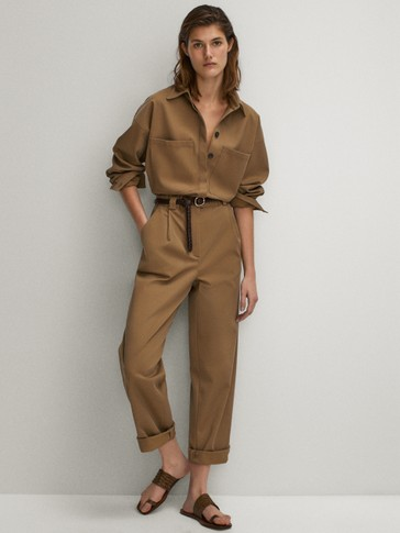 COTTON LYOCELL JUMPSUIT WITH POCKETS