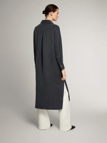 CUPRO SHIRT DRESS