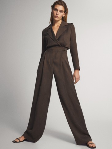 Flowing cupro jumpsuit