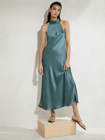 Long halterneck dress
