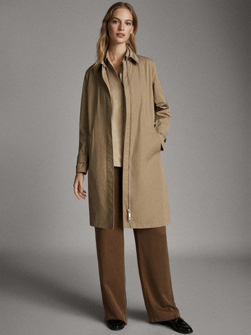 TECHNICAL TRENCH COAT WITH QUILTED INTERIOR