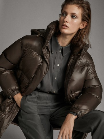 OVERSIZE DOWN JACKET WITH HOOD