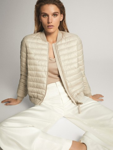 QUILTED JACKET WITH METALLIC THREAD