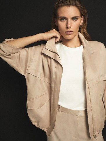 LOOSE-FITTING SHORT CUPRO JACKET