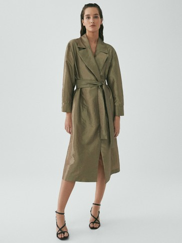 Limited Edition shimmer finish trench coat
