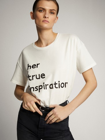 HER TRUE INSPIRATION COTTON LONG SLEEVE T-SHIRT