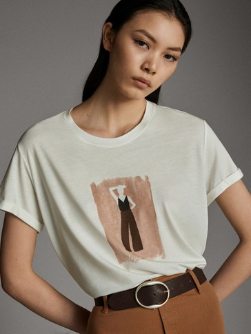 LYOCELL AND COTTON SILHOUETTE T-SHIRT