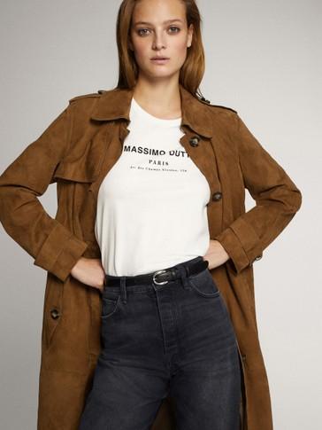 قميص من القطن بشعار