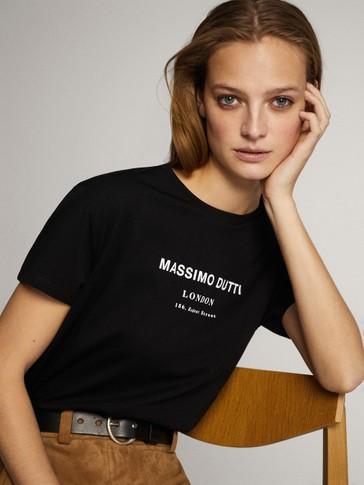 MASSIMO DUTTI 코튼 티셔츠