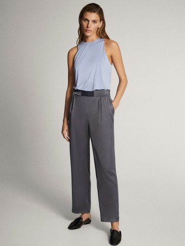 Plain cupro top