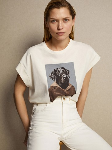 GRAPHIC T-SHIRT WITH DOG DESIGN
