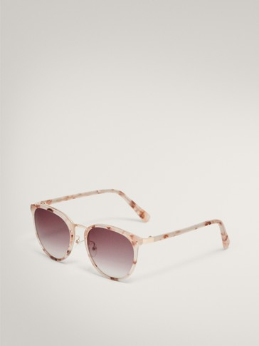 Metal bridge sunglasses with stud detail
