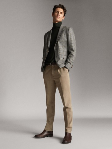 LOOSE-FITTING SLIM FIT DARTED TROUSERS