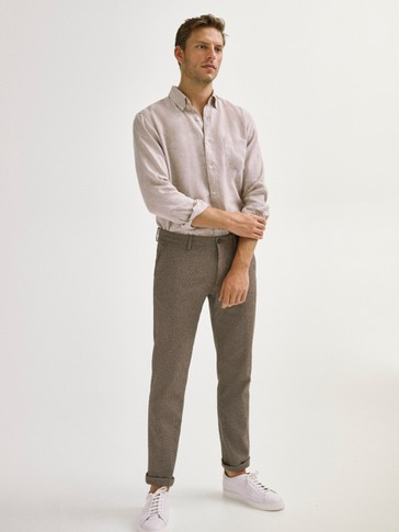 PANTALONI CHINO SLIM FIT DE BUMBAC