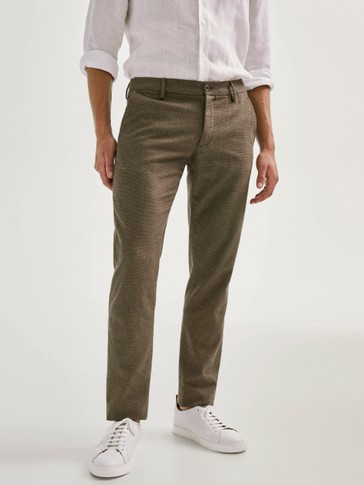 PANTALON CHINO TEXTURE SLIM FIT