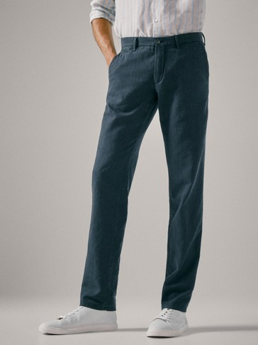 PANTALONI BUMBAC IN SLIM FIT