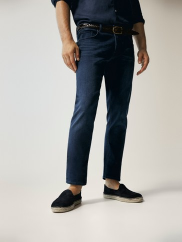 SLIM FIT JEANS WITH PLUSH DETAIL
