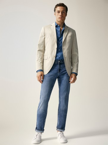 PANTALÓN VAQUERO STONE WASH REGULAR FIT