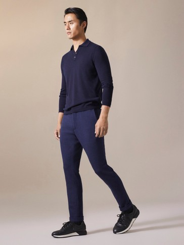 PANTALÓN FALSO LISO SLIM FIT