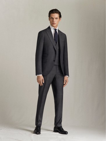 SLIM FIT CHECK S.120'S WOOL TROUSERS