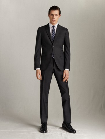 SLIM FIT 100% SUPER 130'S WOOL TROUSERS