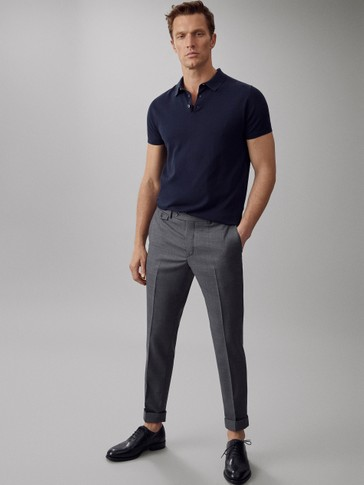 CITY SLIM FIT WOOL TROUSERS