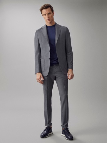 WASHABLE 100% SUPER 120'S WOOL CITY FIT TROUSERS