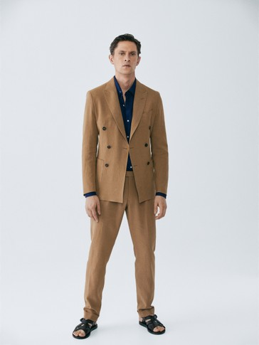 LIMITED EDITION SLIM FIT LINEN TROUSERS