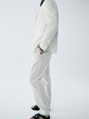 PANTALONI SLIM FIT IN LINO LIMITED EDITION