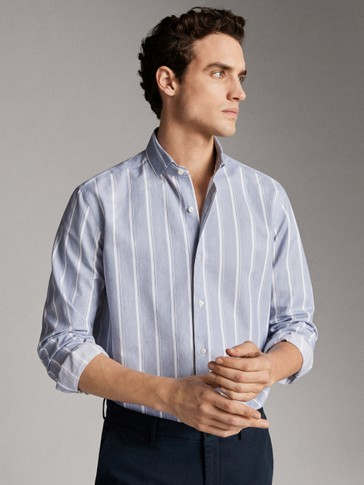 CAMISA RAYAS ALGODÓN REGULAR FIT