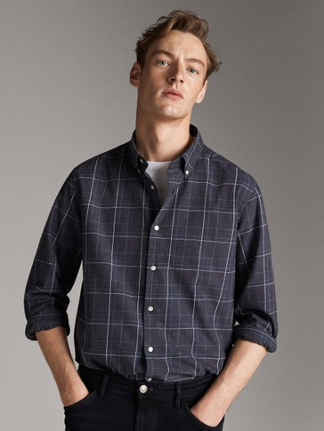 SLIM FIT CHECKED SHIRT