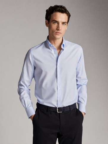 CAMISA CODERAS ALGODÓN SLIM FIT